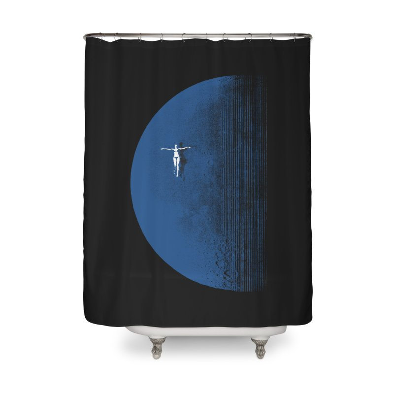 Pure Blue Moon Phantasy Home Shower Curtain by bulo