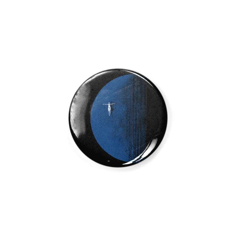 Pure Blue Moon Phantasy Accessories Button by bulo