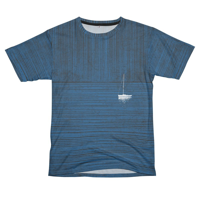 Pure Blue (re-textured) Men's French Terry T-Shirt Cut & Sew by bulo