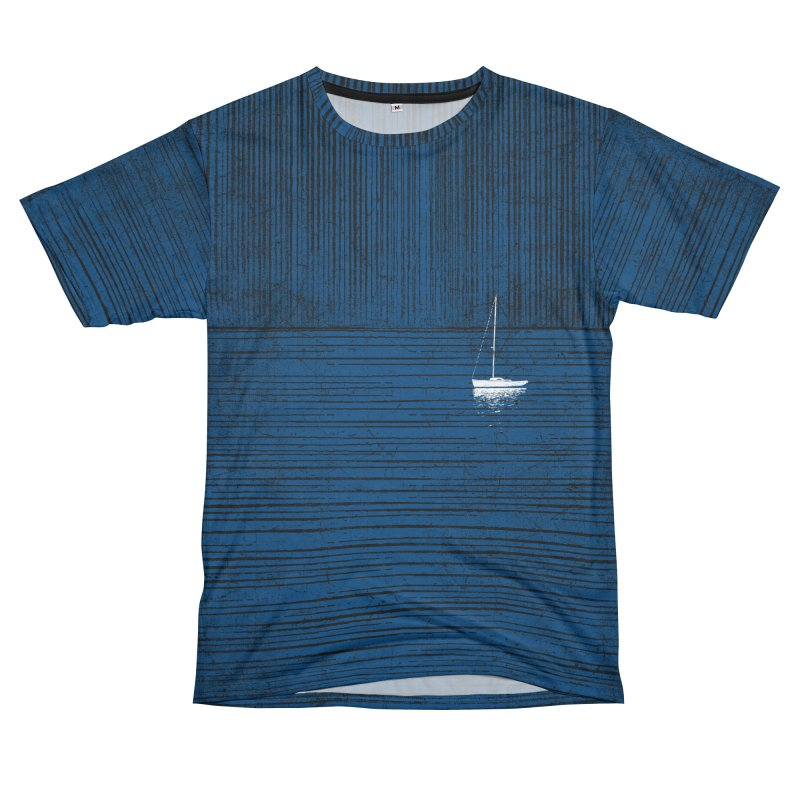 Pure Blue (re-textured) Women's Unisex T-Shirt Cut & Sew by bulo