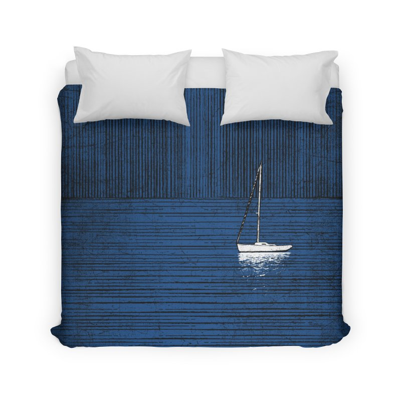 Pure Blue (re-textured) Home Duvet by bulo