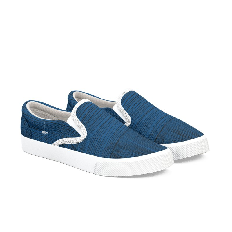 Pure Blue (re-textured) Men's Shoes by bulo