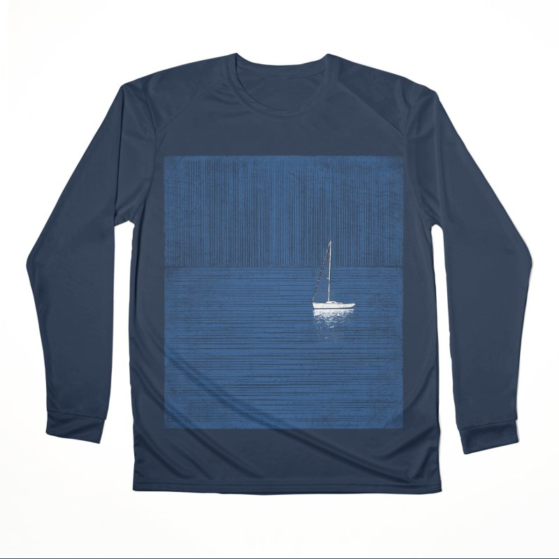 Pure Blue (re-textured) Men's Performance Longsleeve T-Shirt by bulo