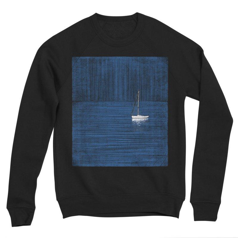 Pure Blue (re-textured) Men's Sponge Fleece Sweatshirt by bulo