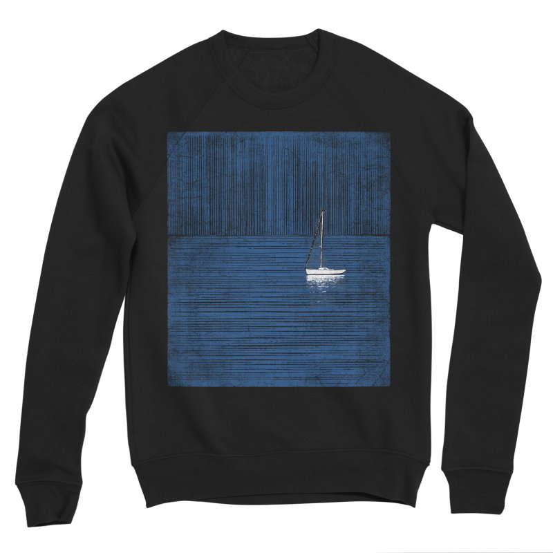 Pure Blue (re-textured) Women's Sponge Fleece Sweatshirt by bulo