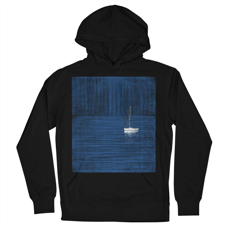 Pure Blue (re-textured) Women's French Terry Pullover Hoody by bulo