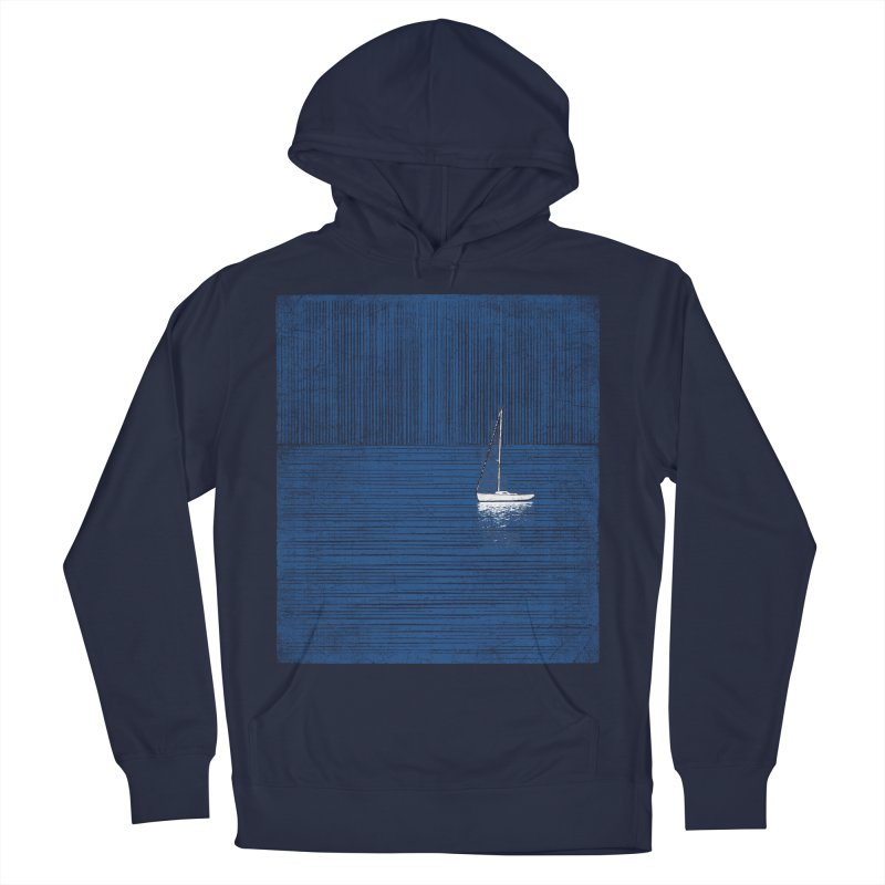 Pure Blue (re-textured) Men's French Terry Pullover Hoody by bulo