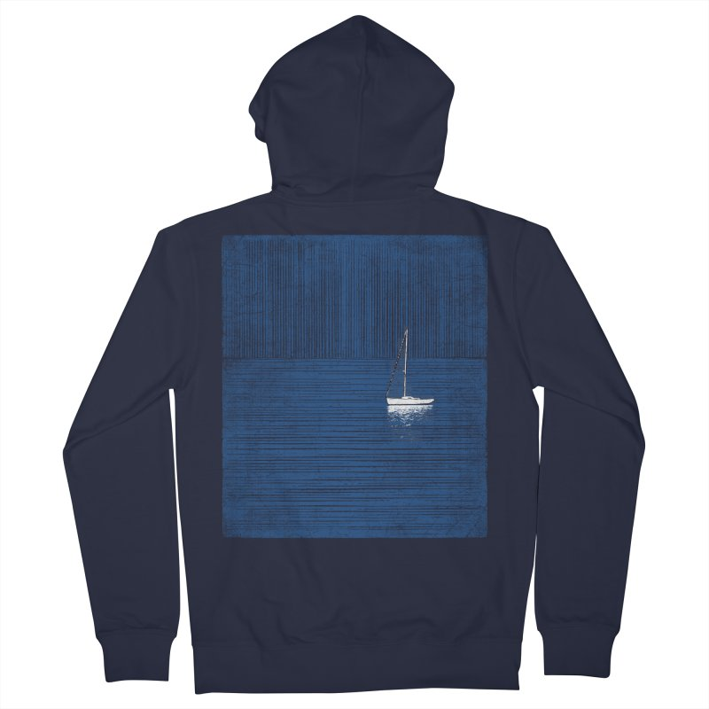Pure Blue (re-textured) Men's French Terry Zip-Up Hoody by bulo