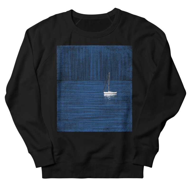 Pure Blue (re-textured) Men's French Terry Sweatshirt by bulo