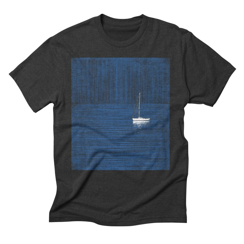 Pure Blue (re-textured) Men's Triblend T-Shirt by bulo