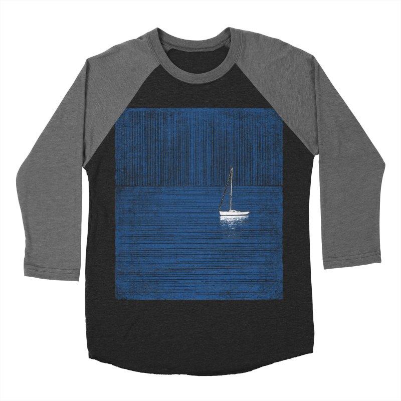 Pure Blue (re-textured) Men's Baseball Triblend Longsleeve T-Shirt by bulo