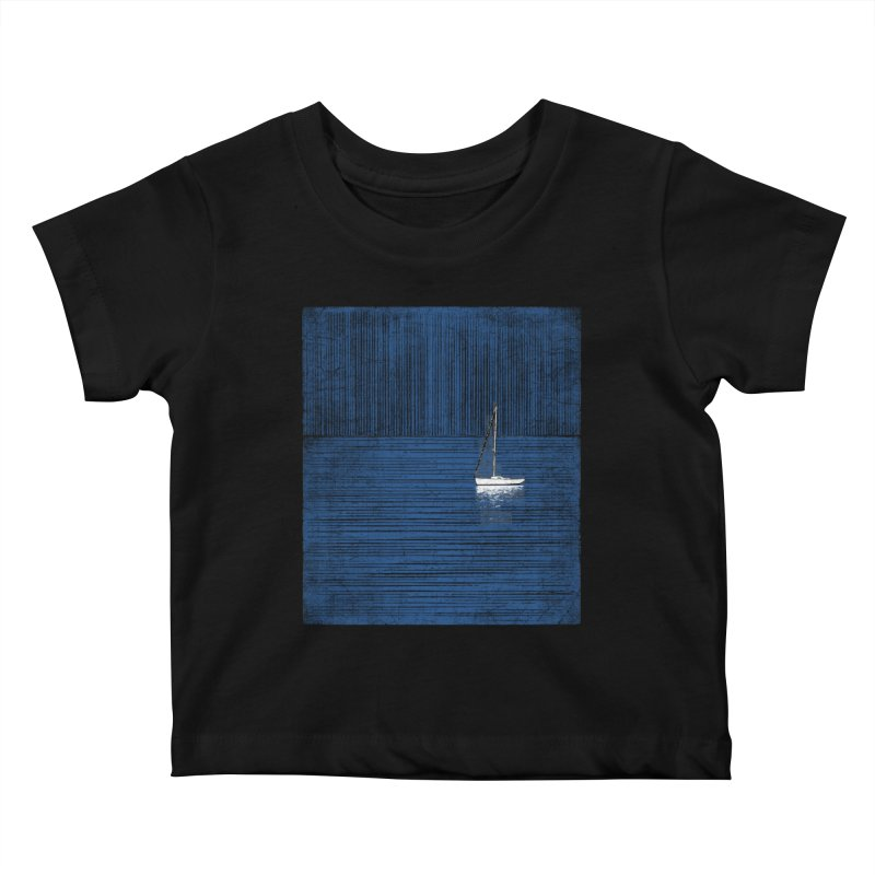 Pure Blue (re-textured) Kids Baby T-Shirt by bulo