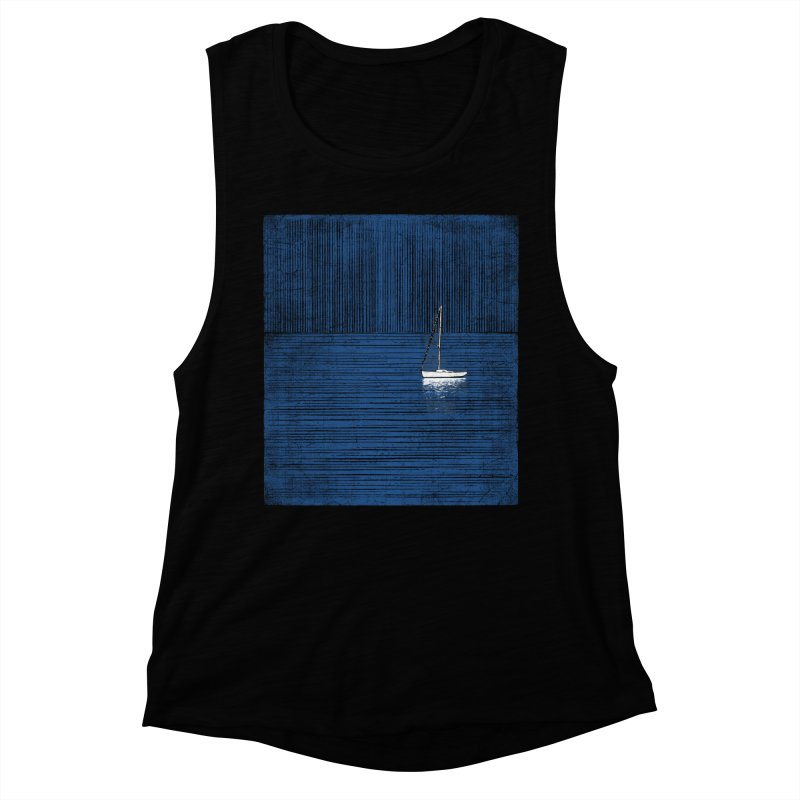 Pure Blue (re-textured) Women's Muscle Tank by bulo