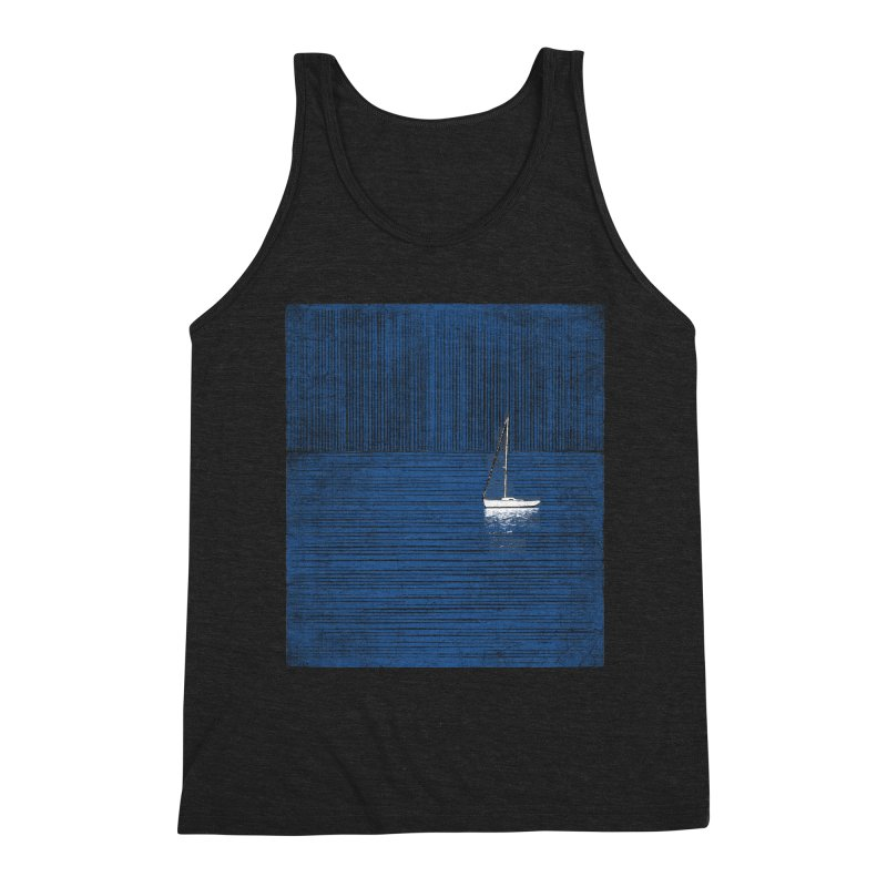 Pure Blue (re-textured) Men's Triblend Tank by bulo