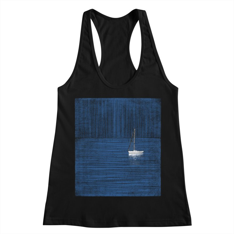 Pure Blue (re-textured) Women's Racerback Tank by bulo