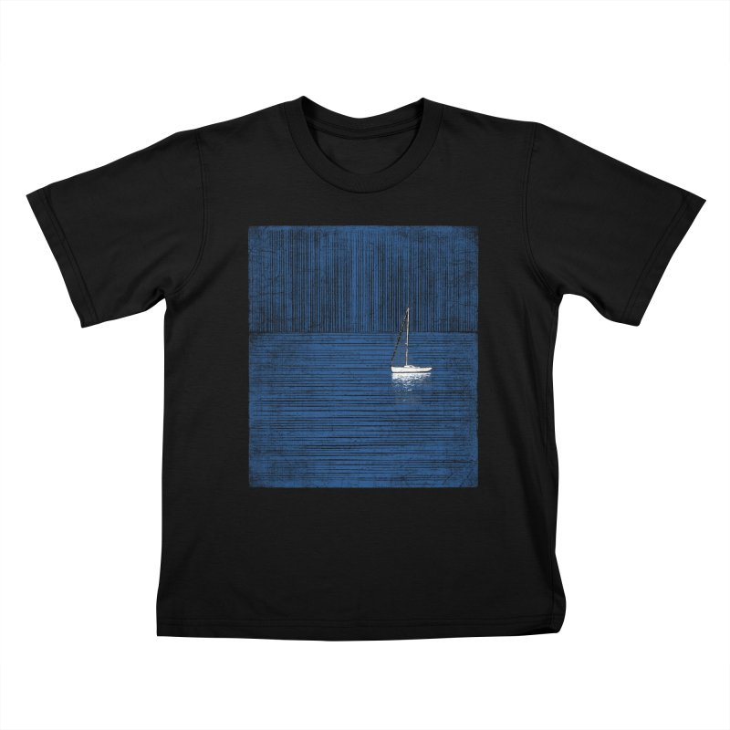 Pure Blue (re-textured) Kids T-Shirt by bulo