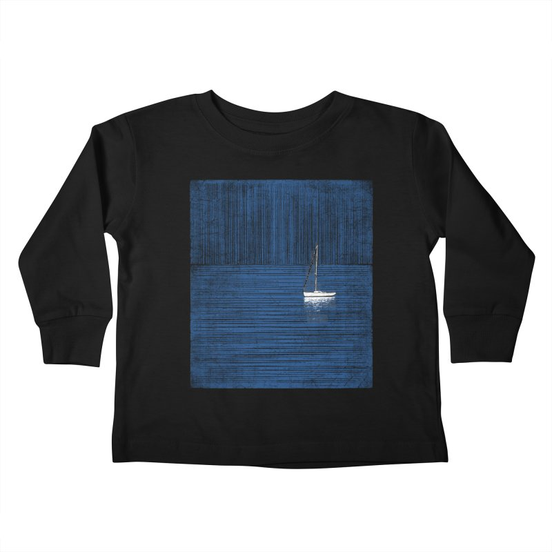 Pure Blue (re-textured) Kids Toddler Longsleeve T-Shirt by bulo