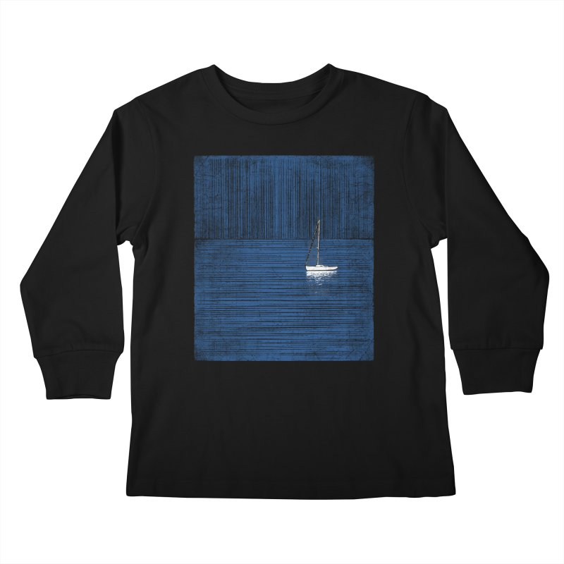 Pure Blue (re-textured) Kids Longsleeve T-Shirt by bulo