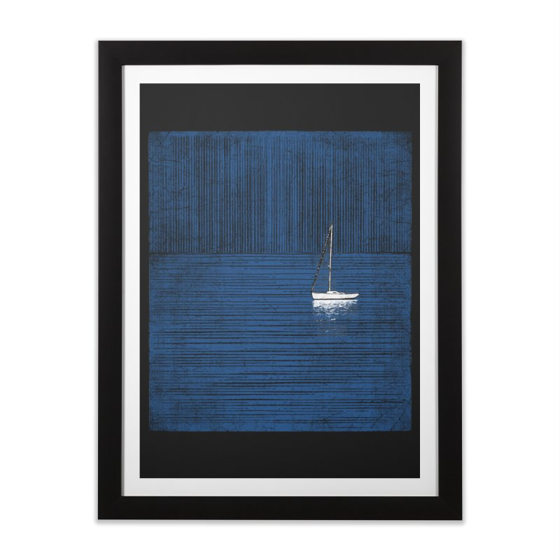 Pure Blue (re-textured) Home Framed Fine Art Print by bulo