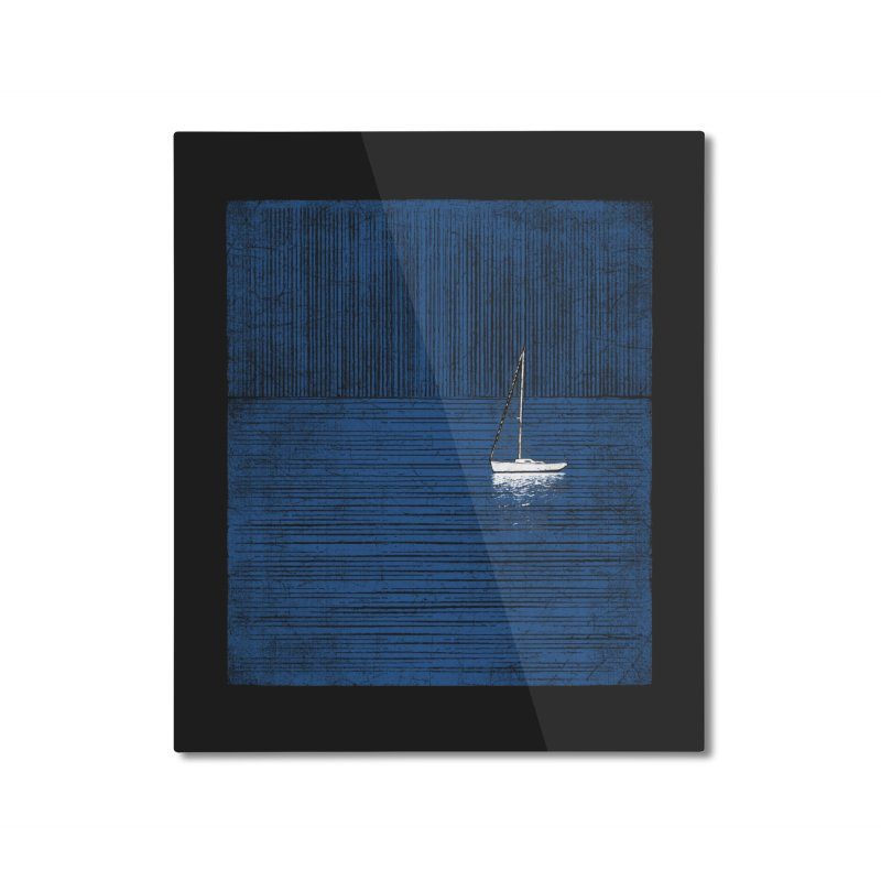 Pure Blue (re-textured) Home Mounted Aluminum Print by bulo