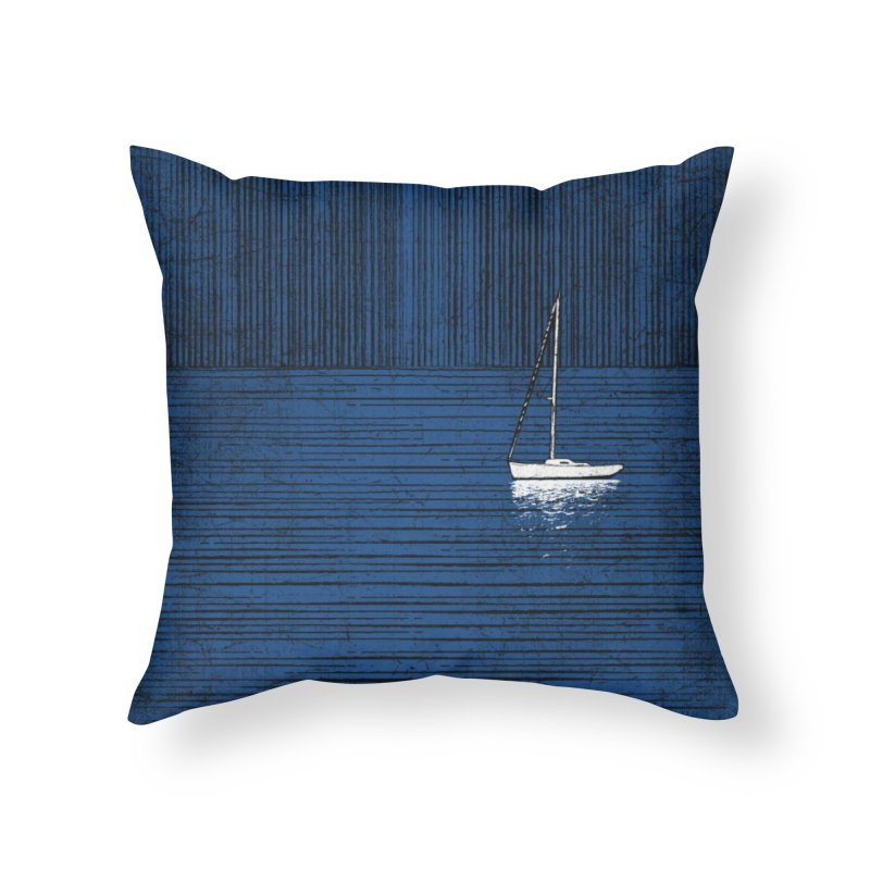 Pure Blue (re-textured) Home Throw Pillow by bulo