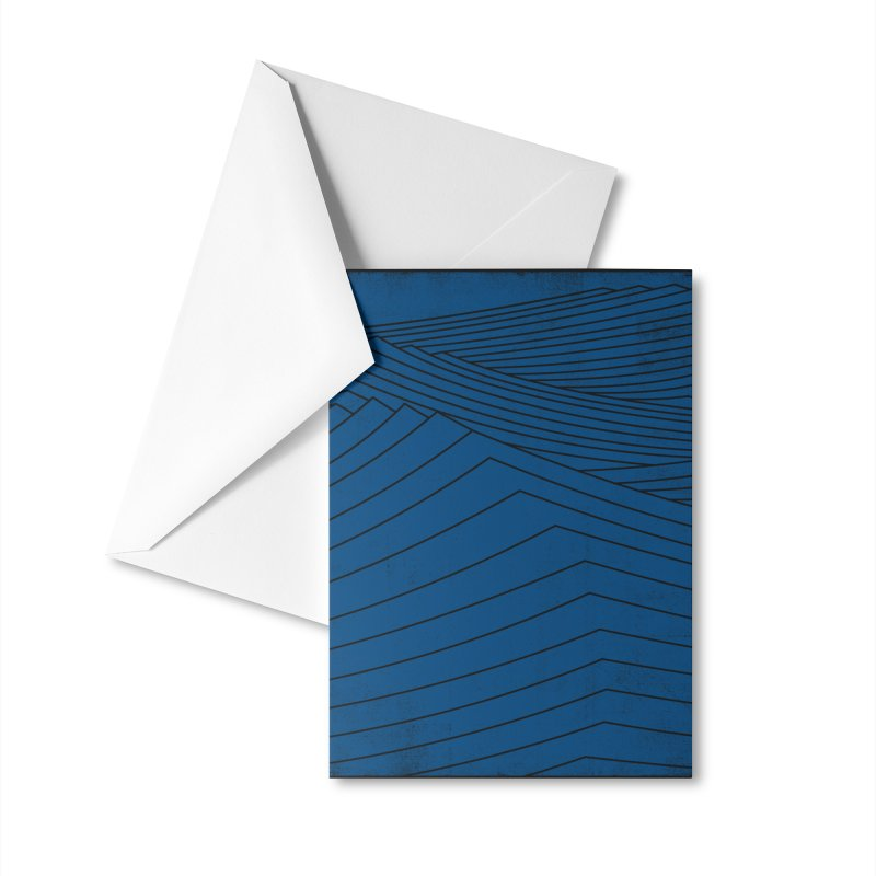 Twilight Blues Accessories Greeting Card by bulo