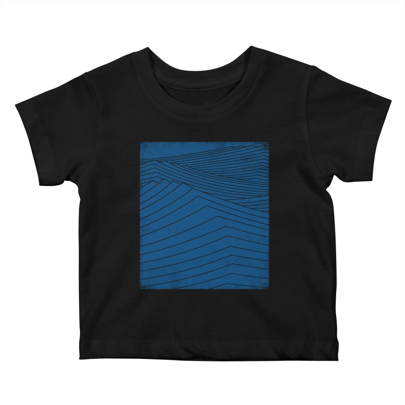 Twilight Blues Kids Baby T-Shirt by bulo