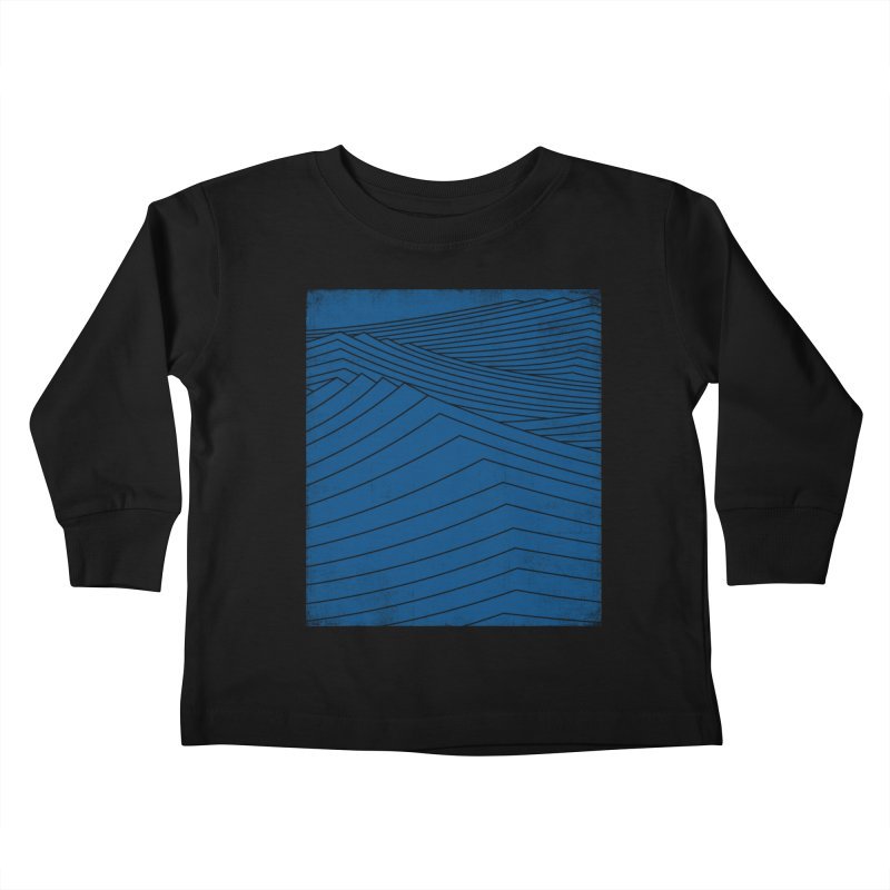 Twilight Blues Kids Toddler Longsleeve T-Shirt by bulo