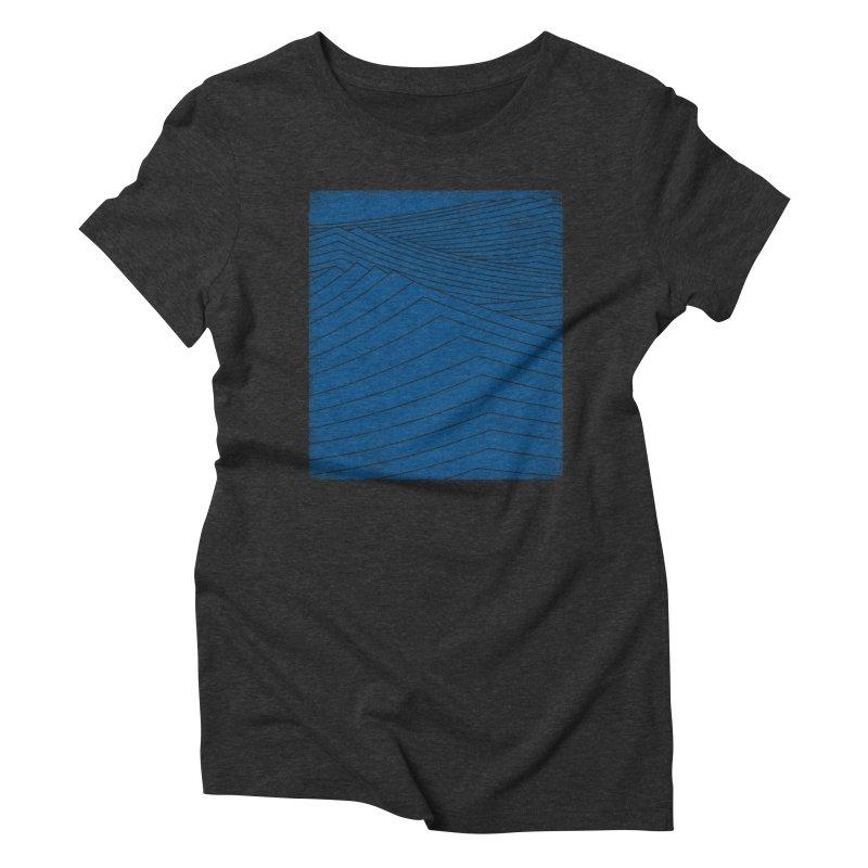 Twilight Blues Women's Triblend T-Shirt by bulo