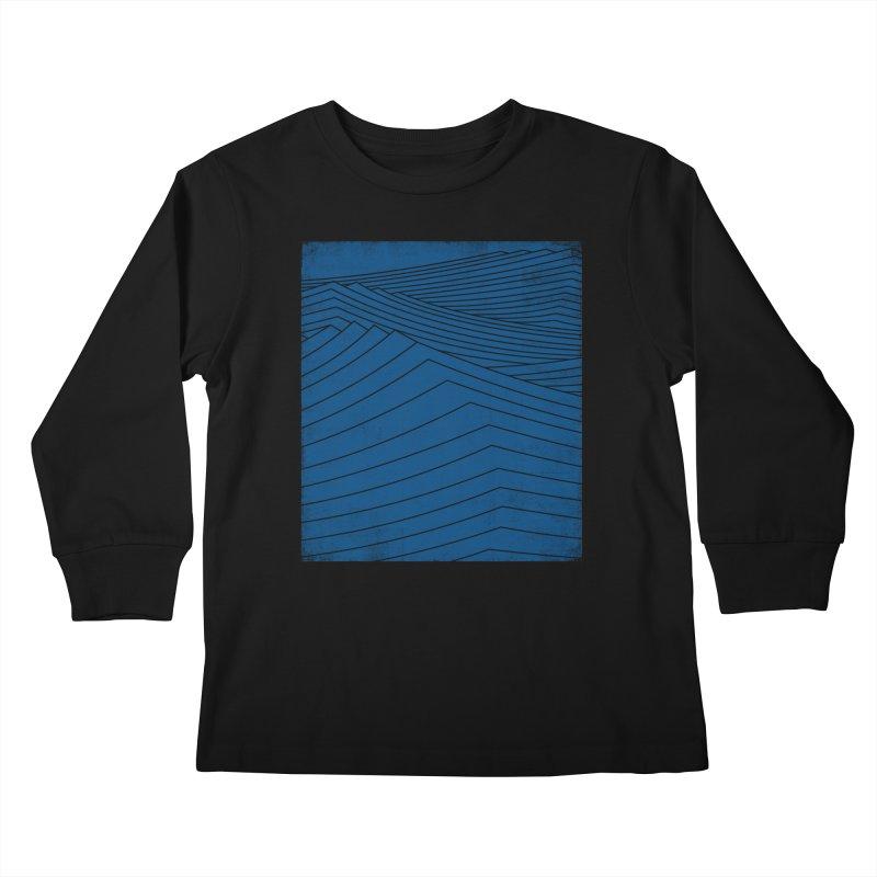 Twilight Blues Kids Longsleeve T-Shirt by bulo