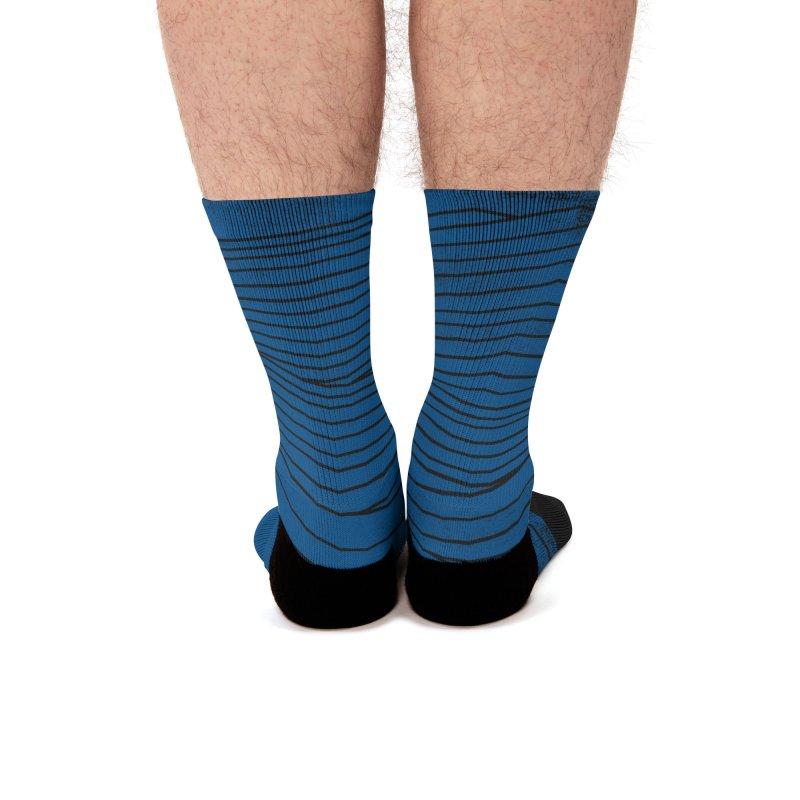 Twilight Blues Men's Socks by bulo