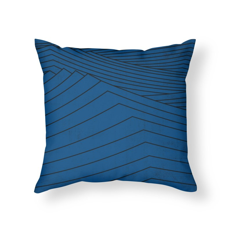 Twilight Blues Home Throw Pillow by bulo