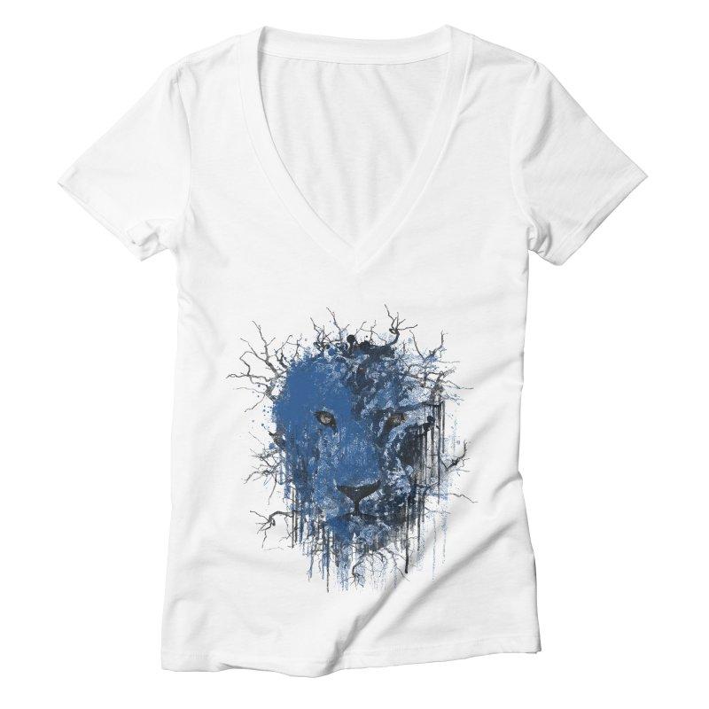 Fusion Blue Women's Deep V-Neck V-Neck by bulo