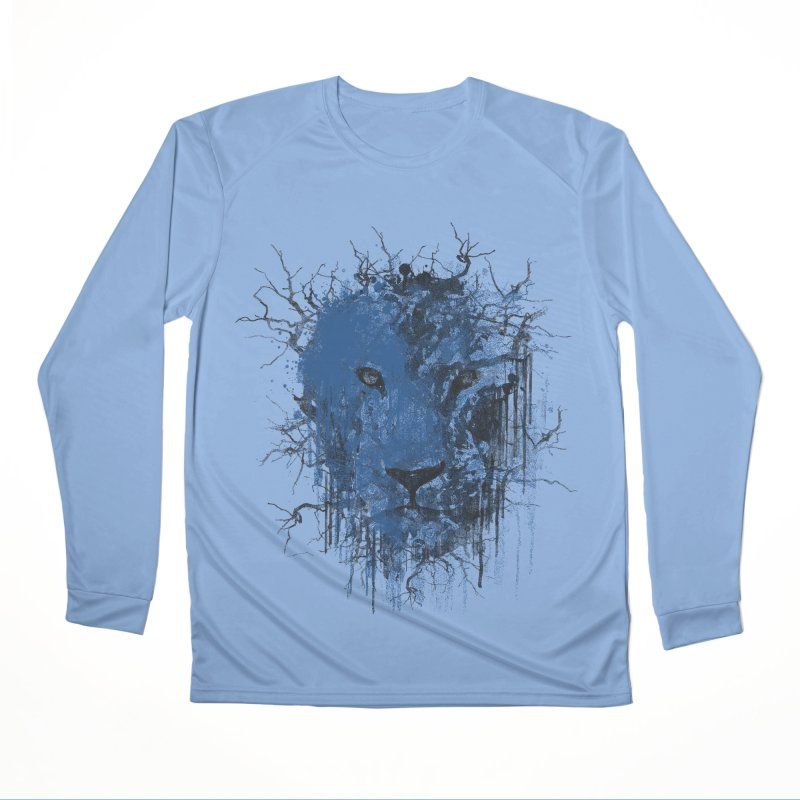 Fusion Blue Men's Performance Longsleeve T-Shirt by bulo