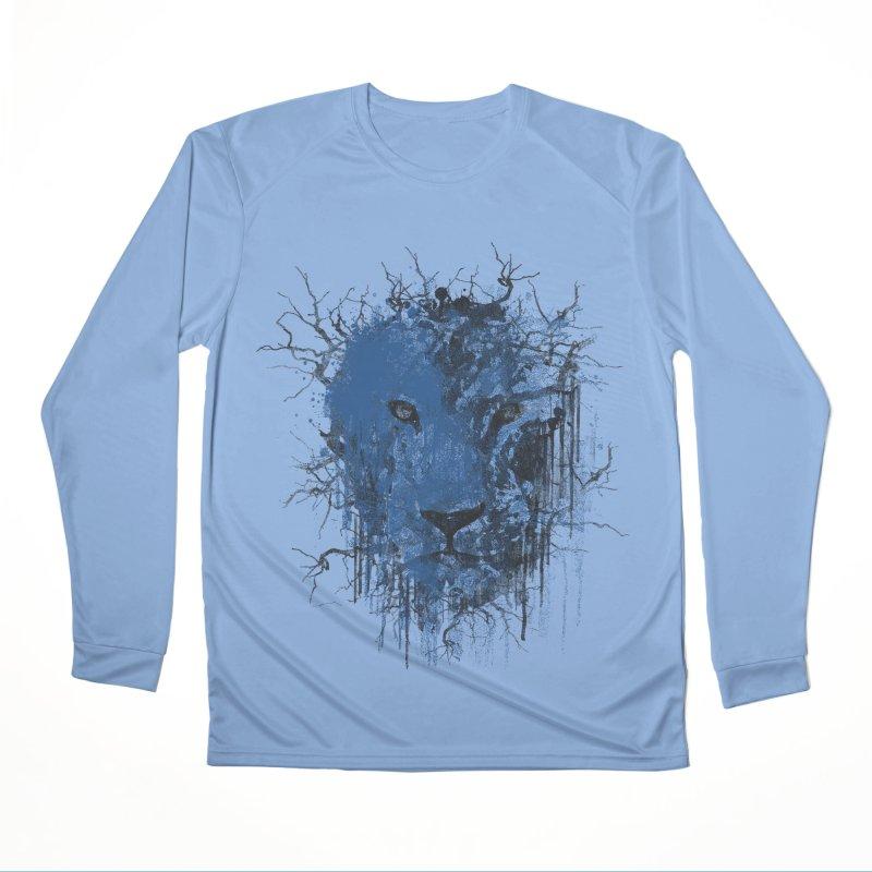 Fusion Blue Women's Performance Unisex Longsleeve T-Shirt by bulo