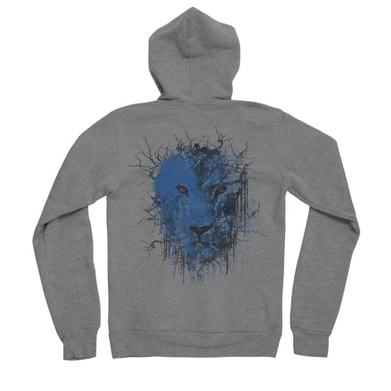 Fusion Blue Men's Sponge Fleece Zip-Up Hoody by bulo