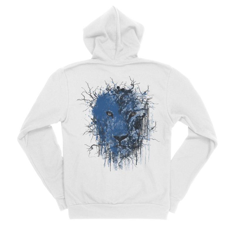 Fusion Blue Women's Sponge Fleece Zip-Up Hoody by bulo
