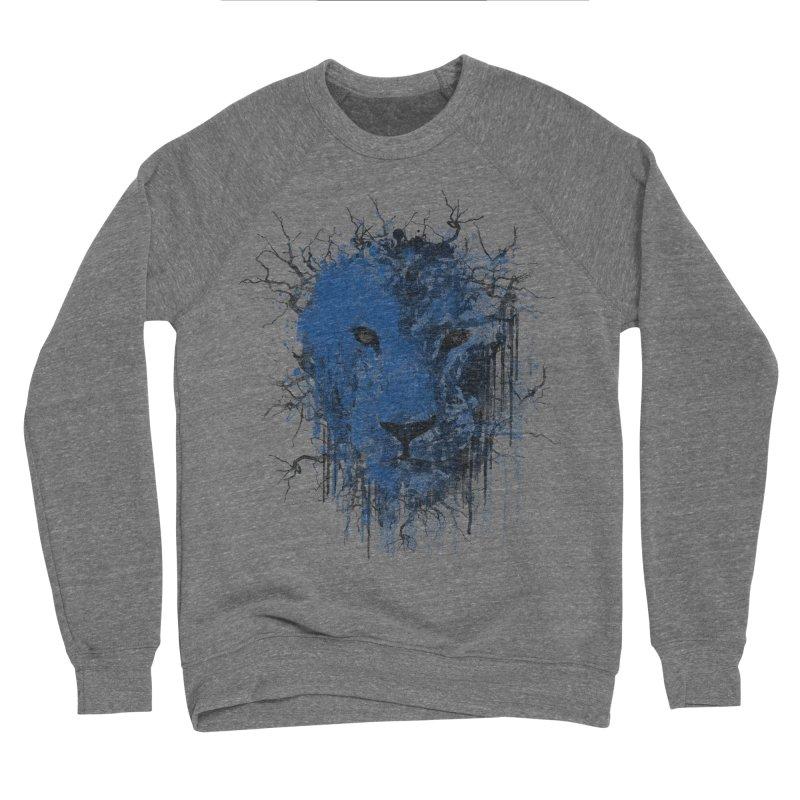 Fusion Blue Men's Sponge Fleece Sweatshirt by bulo