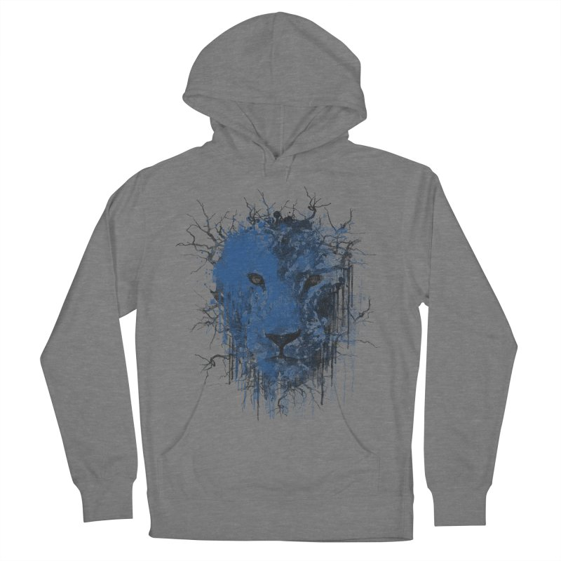 Fusion Blue Women's French Terry Pullover Hoody by bulo