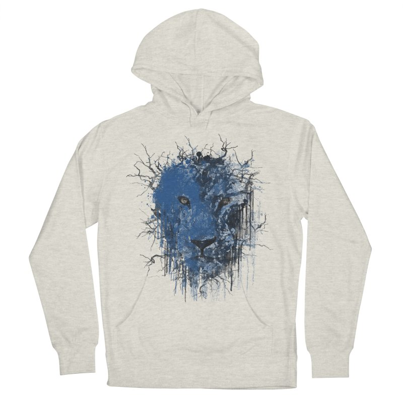 Fusion Blue Men's French Terry Pullover Hoody by bulo