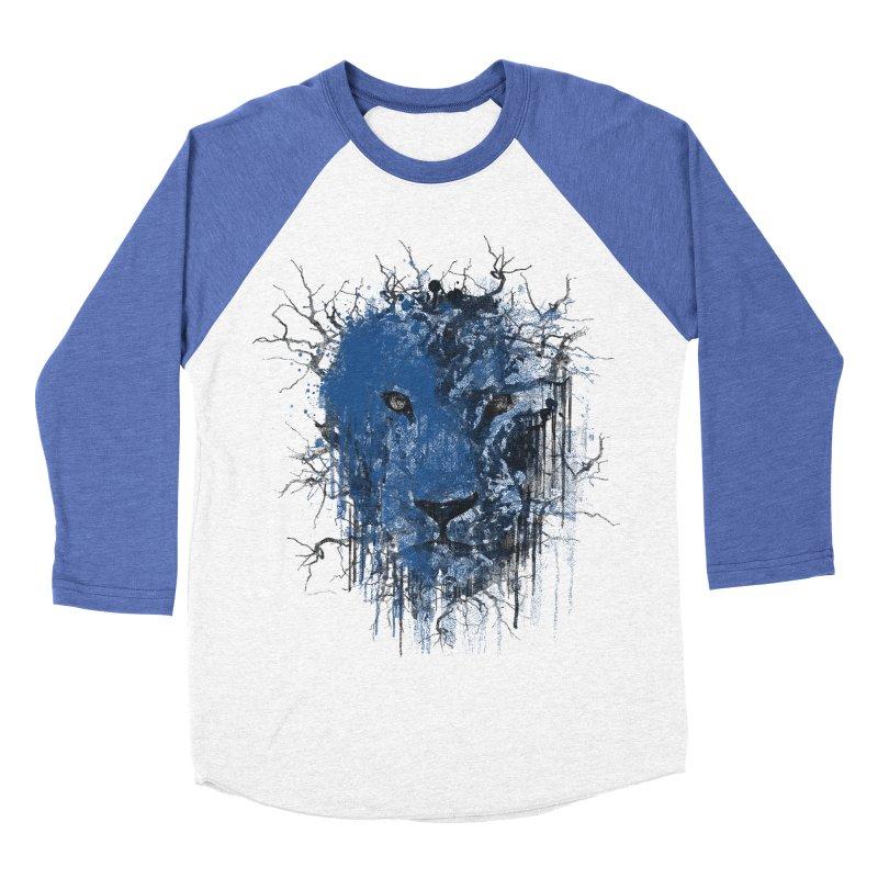 Fusion Blue Men's Baseball Triblend Longsleeve T-Shirt by bulo