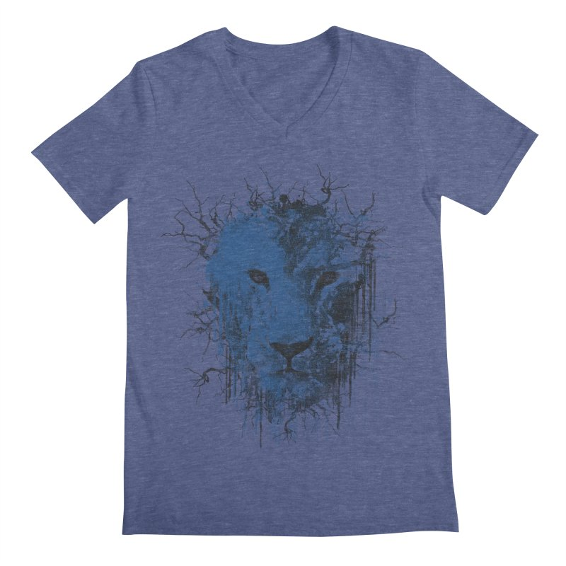 Fusion Blue Men's Regular V-Neck by bulo