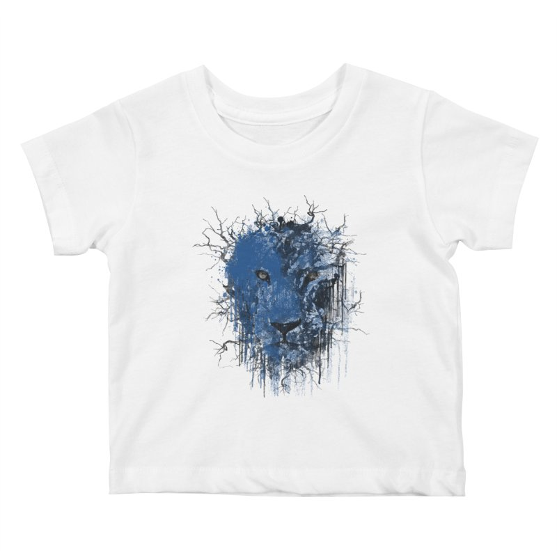 Fusion Blue Kids Baby T-Shirt by bulo