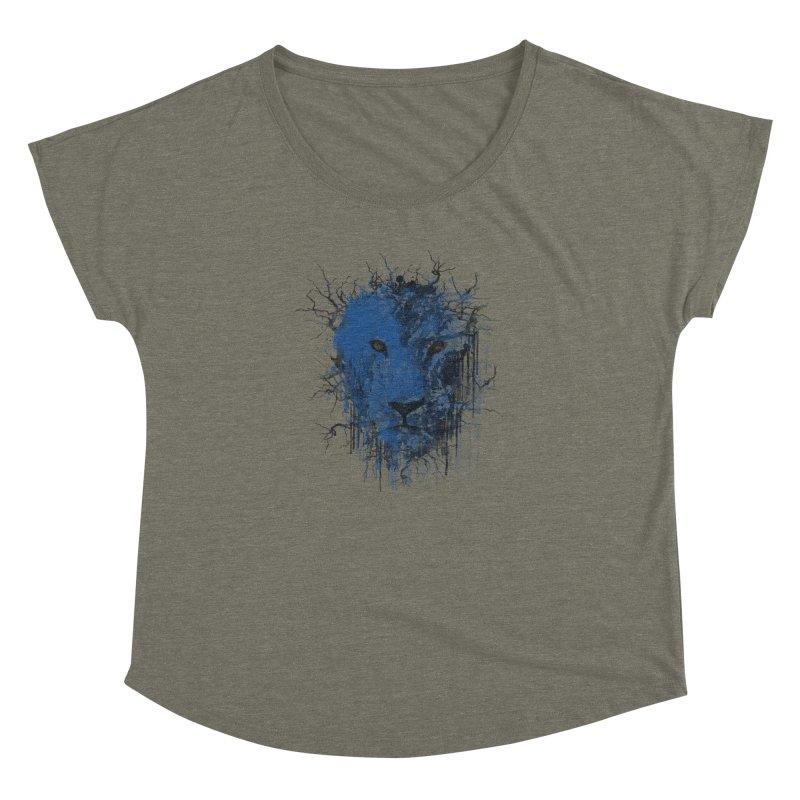 Fusion Blue Women's Dolman Scoop Neck by bulo