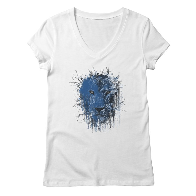 Fusion Blue Women's Regular V-Neck by bulo