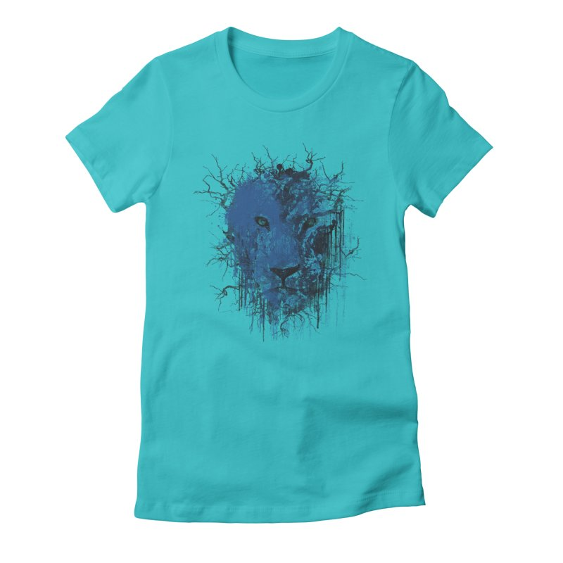 Fusion Blue Women's Fitted T-Shirt by bulo