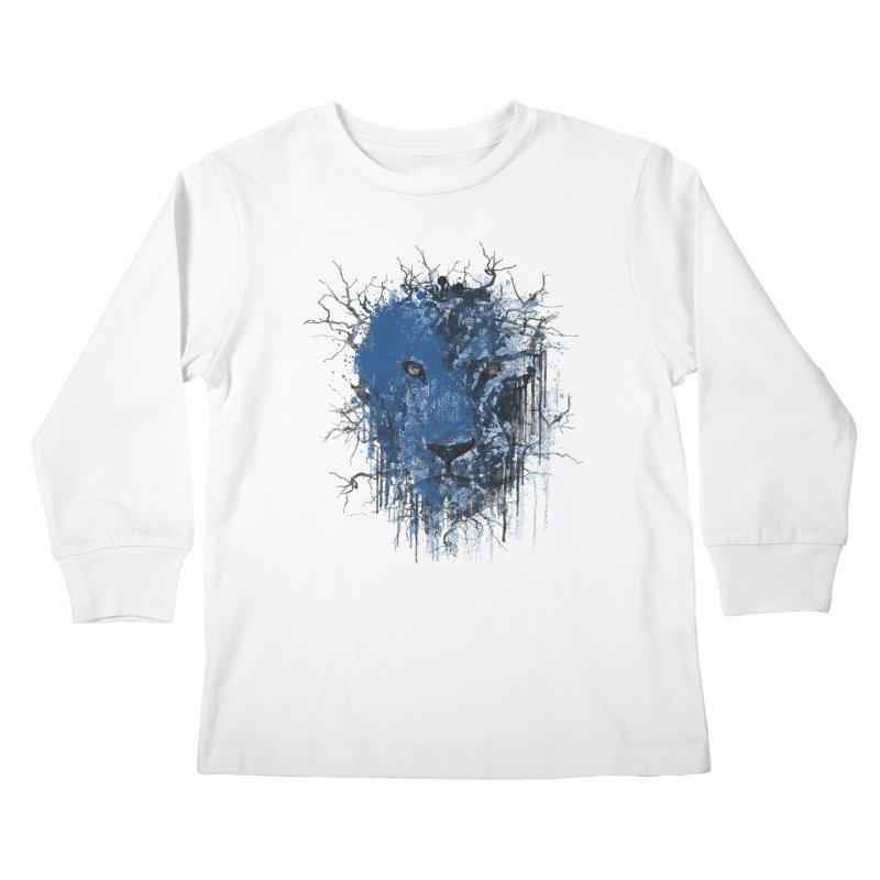 Fusion Blue Kids Longsleeve T-Shirt by bulo