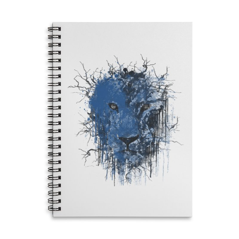 Fusion Blue Accessories Lined Spiral Notebook by bulo