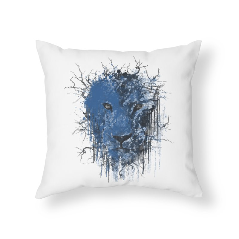 Fusion Blue Home Throw Pillow by bulo