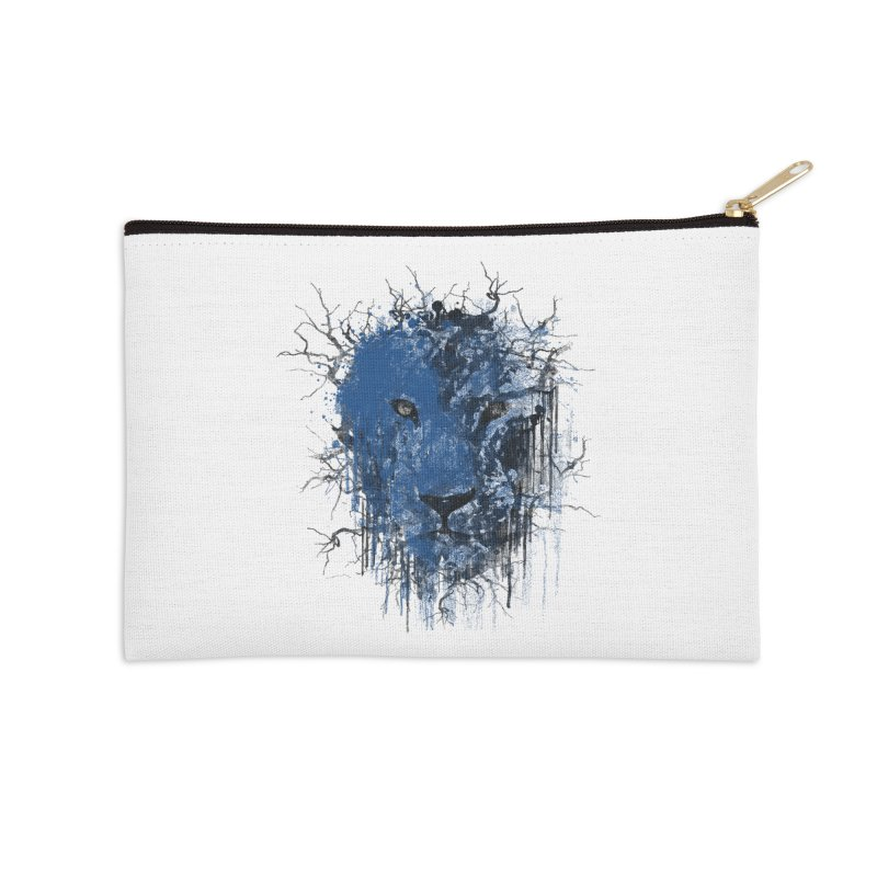 Fusion Blue Accessories Zip Pouch by bulo